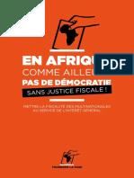 Rapport - Tournons la page - En Afrique, comme ailleurs, pas de démocratie sans justice fiscale (2017)