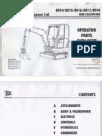 Jcb 8017 Parts Book