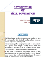 Retrofitting of well foundation