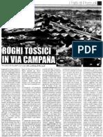 Corriere Flegreo 12 Ottobre 2010 - Roghi Tossici in via Campana