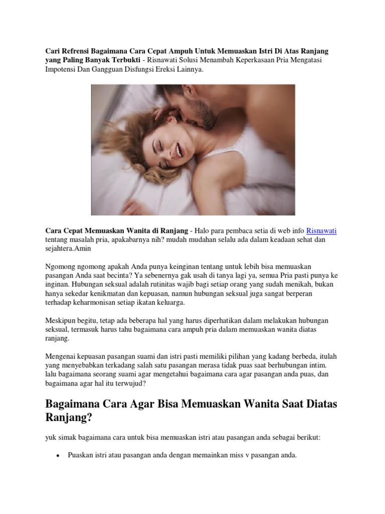 cara cepat memuaskan wanita di ranjang