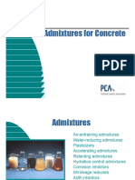 Admixtures by Portland Cement