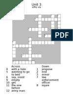 Crossword Unit 3