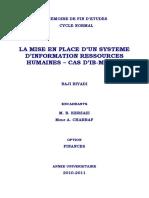 La Mise en Place d'Un Système d'Information Ressources Humaines – Cas D'IB-MAROC