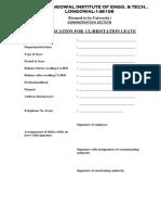 18.Application for CH RH SL