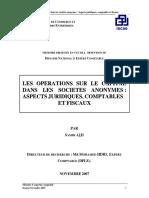 LES OPERATIONS SUR LE CAPITAL DANS LES SOCIETES ANONYMES. ASPECTS JURIDIQUES, COMPTABLES ET FISCAUX.pdf