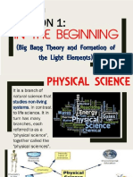 Big Bang Theory & the Formation of Light Elements