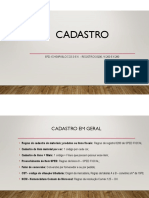 EFD- ICMS IPI Regras de Cadastro
