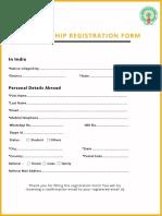 APNRT Membership Registration Form