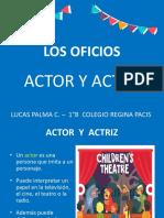 Los Oficios - Actor Lucas Palma