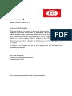 Carta de Recomención Room Architects