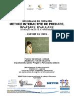 Curs Metode Interactive de Predarea Invatare Evaluare