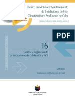 Unidad 6. Control y Regulación de Instalaciones de Calefacción Y ACS