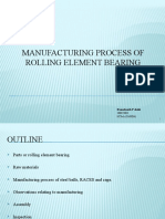 Manufacturing Process of Rolling Element Bearing New