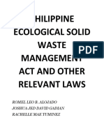 Philippine Ecological Solid Waste Management Act and Other Relevant Laws
