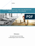 Exercise Prescripcion for the prevention and treament of disease