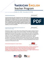 AE E Teacher Course Descriptions Fall 2018