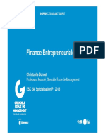 Cours Finance Entrepreneuriale GEM 2018