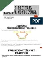 Presentación Terapia Racional Emotiva Conductual. Grupo1