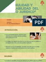 Nulidad y Anulabilidad Del Acto Juridico Diapositivas