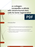 Porous Collagen-hydroxyapatite Scaffolds With Mesenchymal Stem Cells For