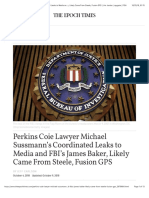 Perkins Coie Lawyer Michael Sussmann's Coordinated Leaks to Media
