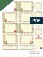 Shabby Roses Journaling Elements VintageGlamStudio
