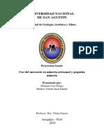Proyeccion Social - Uso Del Mercurio en La Mineria Artesanal y Pequeña Mineria (Recuperado Automáticamente)