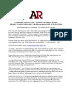 AR BIllion Dollar Club Remains Flat in First Half of 2010