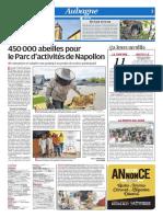 450 000 abeilles pour le Parc d'activités de Napollon (03/05/18)