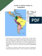 Subdesarrollo en América Latina