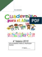 Cuadernillo del  Profesor 4° Básico 2015