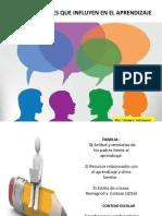 Factres Sociales Que Influyen en El Aprendizaje
