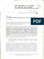 05.-1ra Solicitud Del Area de Terreno de La Casa de La Juventud Joya Cultural de La Amazonia, Proyecto, Plano, Actas Etc