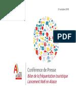 Rapport de l'Agence d'attractivité de l'Alsace (AAA) sur le tourisme en 2017-2018