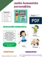 La Educación Humanista y Personalista
