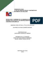 Petrología y Quimismo de Los Minerales Del Grupo de La Espinela en Lavas de Los Centro Eruptivos Menores
