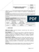 P-GTH-001 PROCEDIMIENTO RECLUTAMIENTO Y SELECCION DE PERSONAL.doc