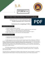 Health Exam Form A