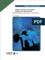 Identidad y Cuerpo en La Trama Dɇl Sujetø Sexo-generizadø. Del Psicoanálisis Norteamericano a Judith Butler - Ariel Martínez