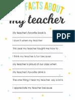 Fun Facts About My Teacher