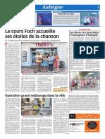 Opération grand nettoyage dans la ville (10/07/18)