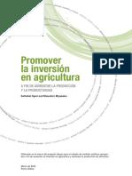 Promover La Inversión en Agricultura a Fin de Aumentar La Producción y La Productividad