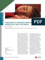 Treatment of Paediatric Obstructive Sleep Apnoea With Oral Appliancesl-Therapy-European-Respiratory-Society