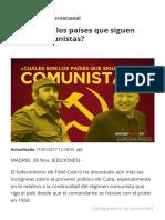 ¿Qué paises son comunistas?