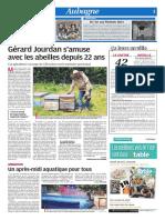 Gérard Jourdan s'amuse avec les abeilles depuis 22 ans (25/07/18)