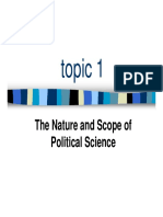 Political Science Nature and Scope