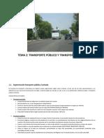 Tema 2. Transporte Público y Privado. Competencia
