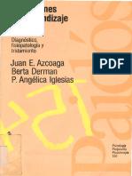 Alteraciones Del Aprendizaje Escolar. Juan e. Azcoaga (Et.al)