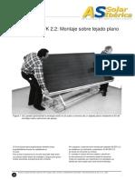 Colector Plano AS-EFK 2.2. Montaje sobre tejado plano.